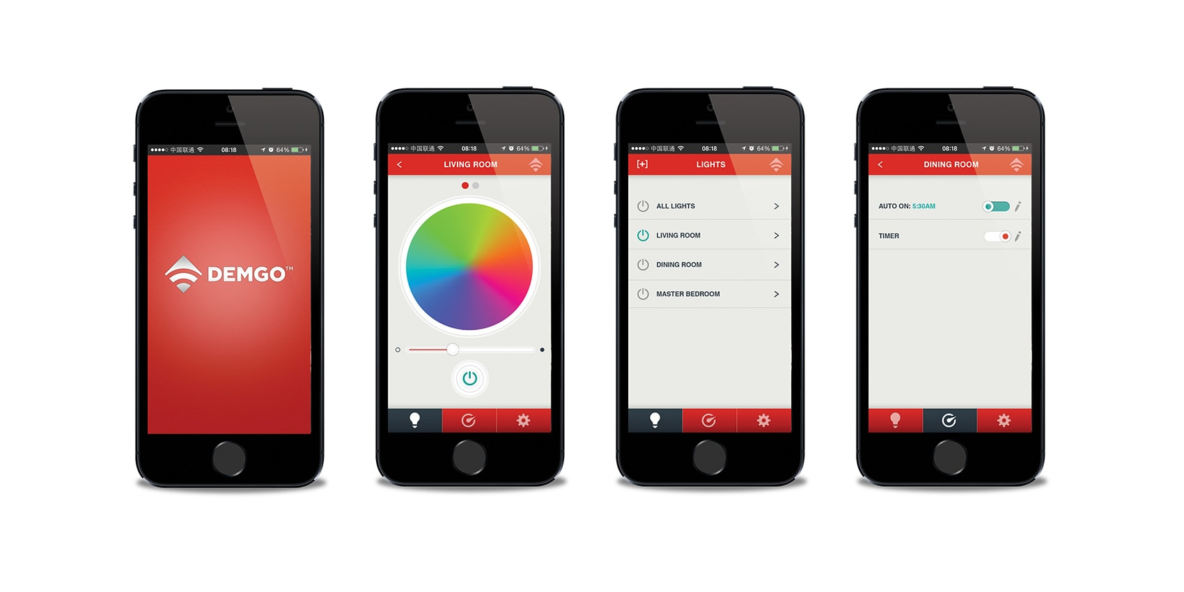 App user interface design for a wifi lighting system by Clutch Creative Company Burlington, VT
