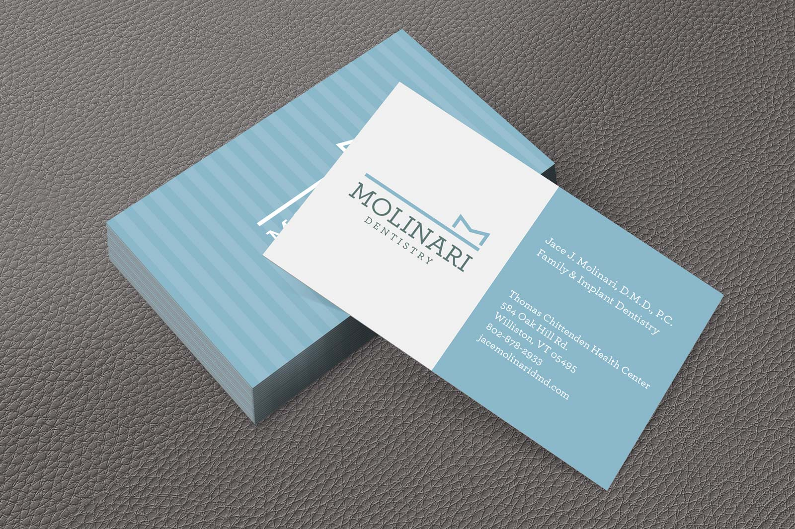 Branded stationary design and custom logo design Burlington, VT - Clutch Creative Co.