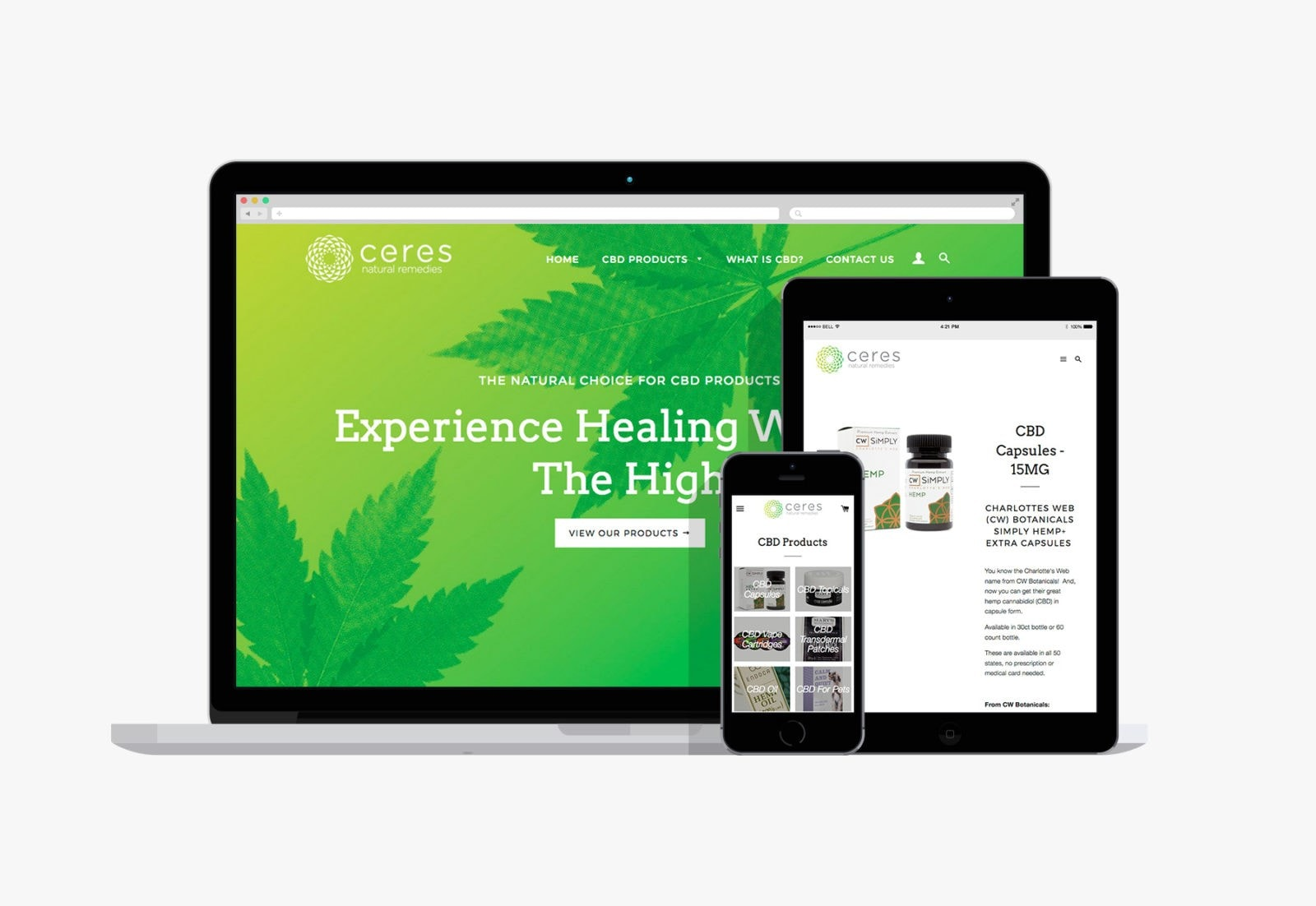 Cannabis web design by Clutch Creative Co Burlington Vermont website design company