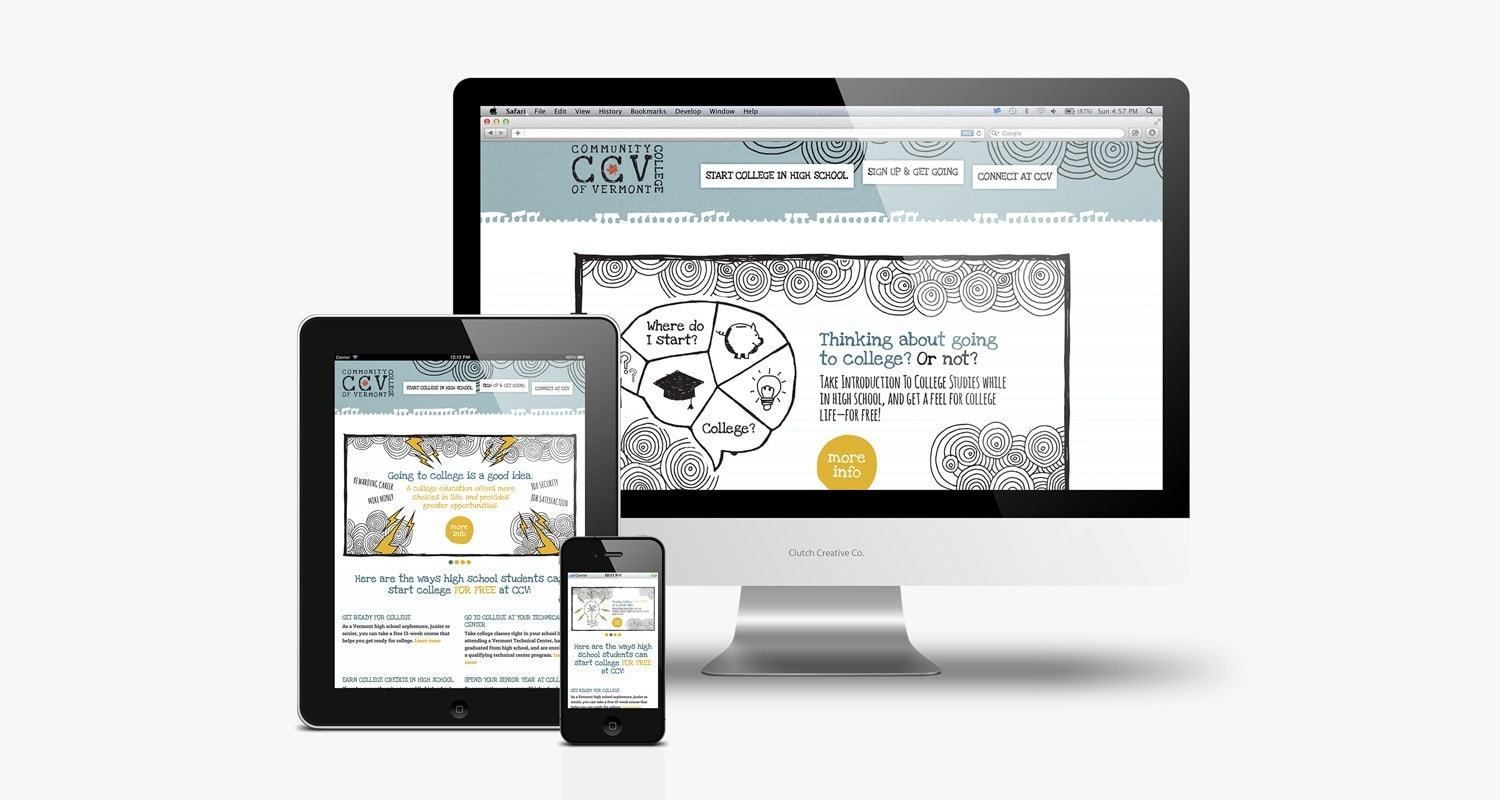 Responsive website design VT - Clutch Creative Co.