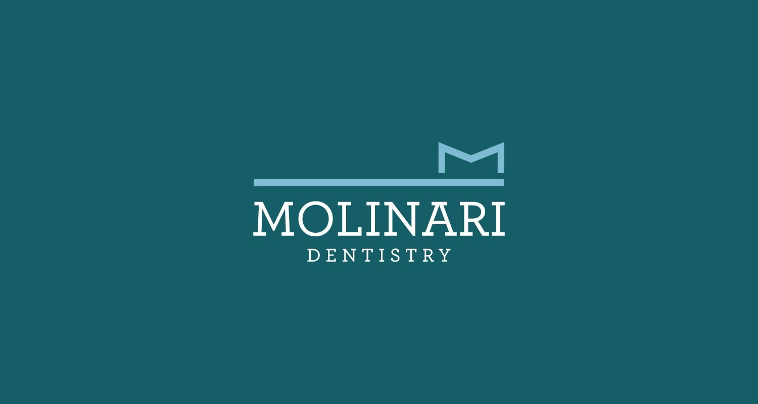 Dental logo design for Dr. Jace Molinari Vermont by Clutch Creative Co. Burlington, VT
