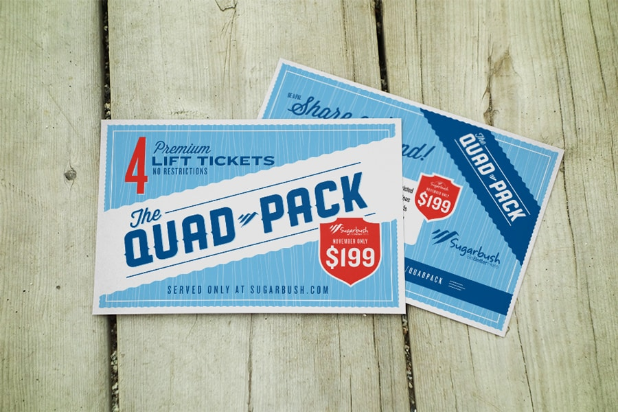 Advertising campaign for Sugarbush resort - Clutch Creative Co. Advertising Vermont