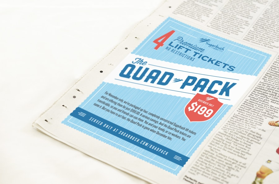 Advertising campaign for Sugarbush resort - Clutch Creative Co. Advertising firm Vermont