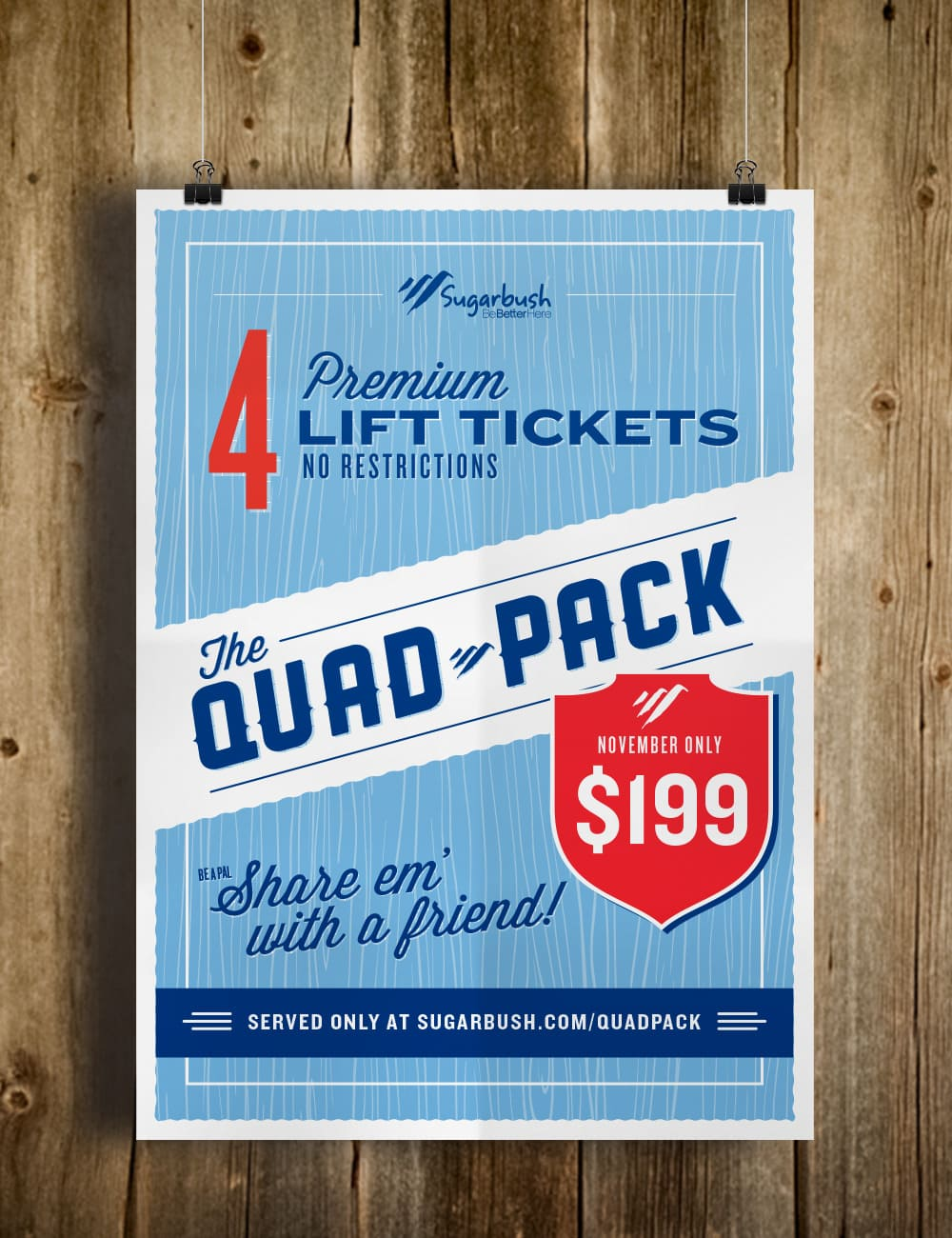 Graphic Design for Sugarbush resort - Clutch Creative Company