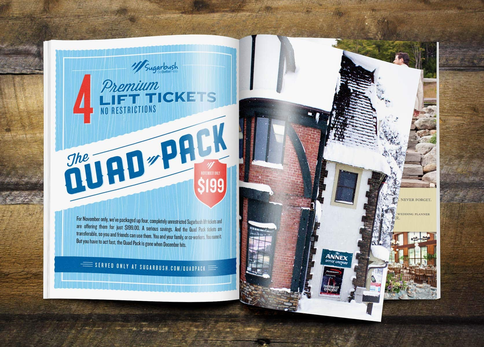 Advertising campaign for Sugarbush resort - Clutch Creative Co. Advertising