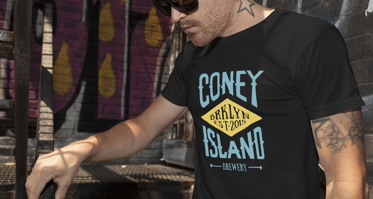 Apparel design for Coney Island Brewery in NY by Clutch Creative Co.