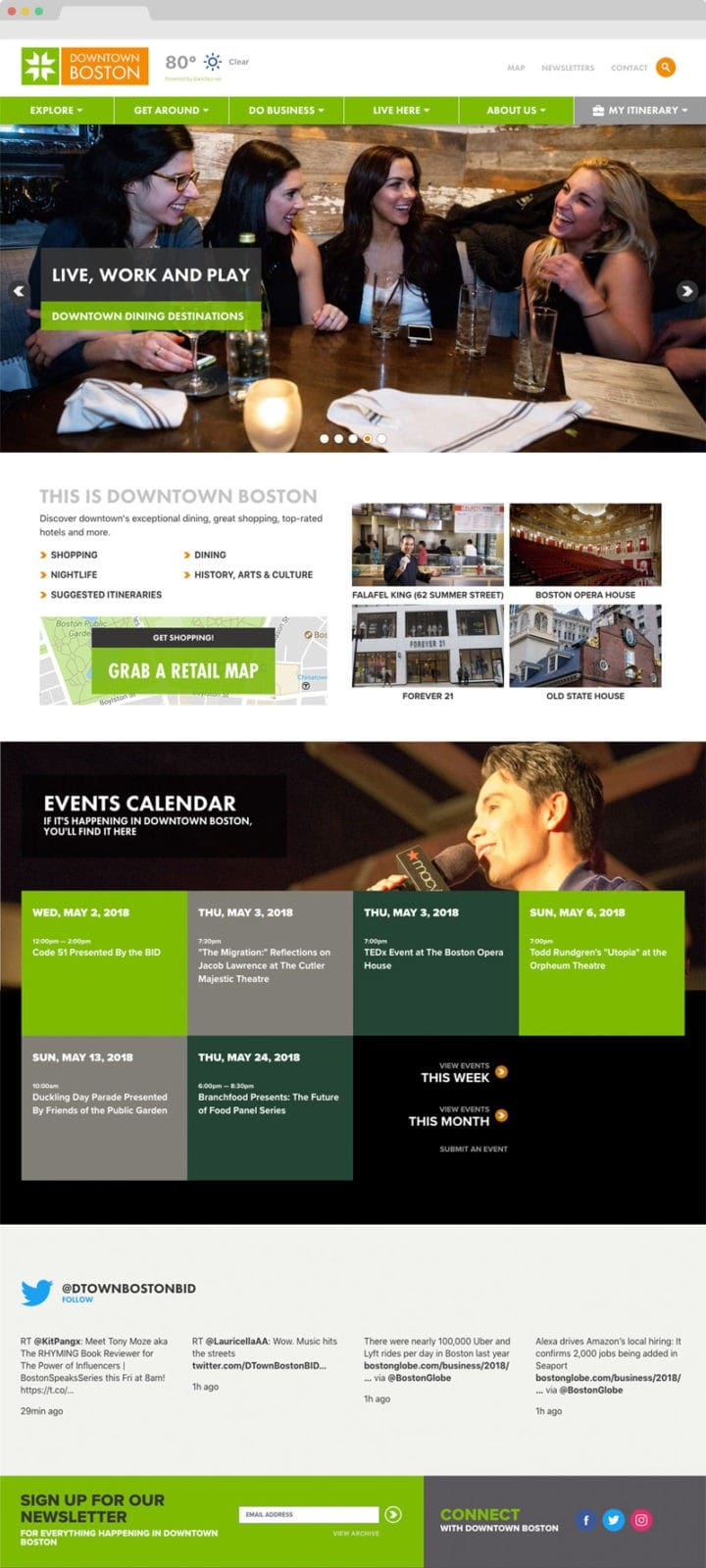 User Experience Example. Clutch Creative co. Burlington, VT website design.