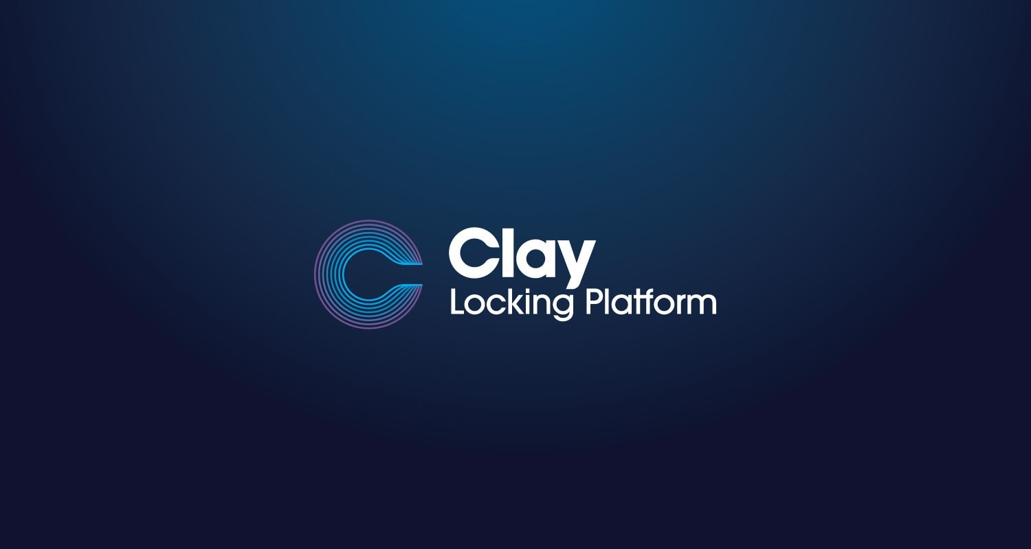 Brand identity design for Clay Locking Platform by Clutch Creative Company Burlington, Vermont