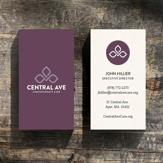 Dispensary branding for Central Ave outside of Boston, MA