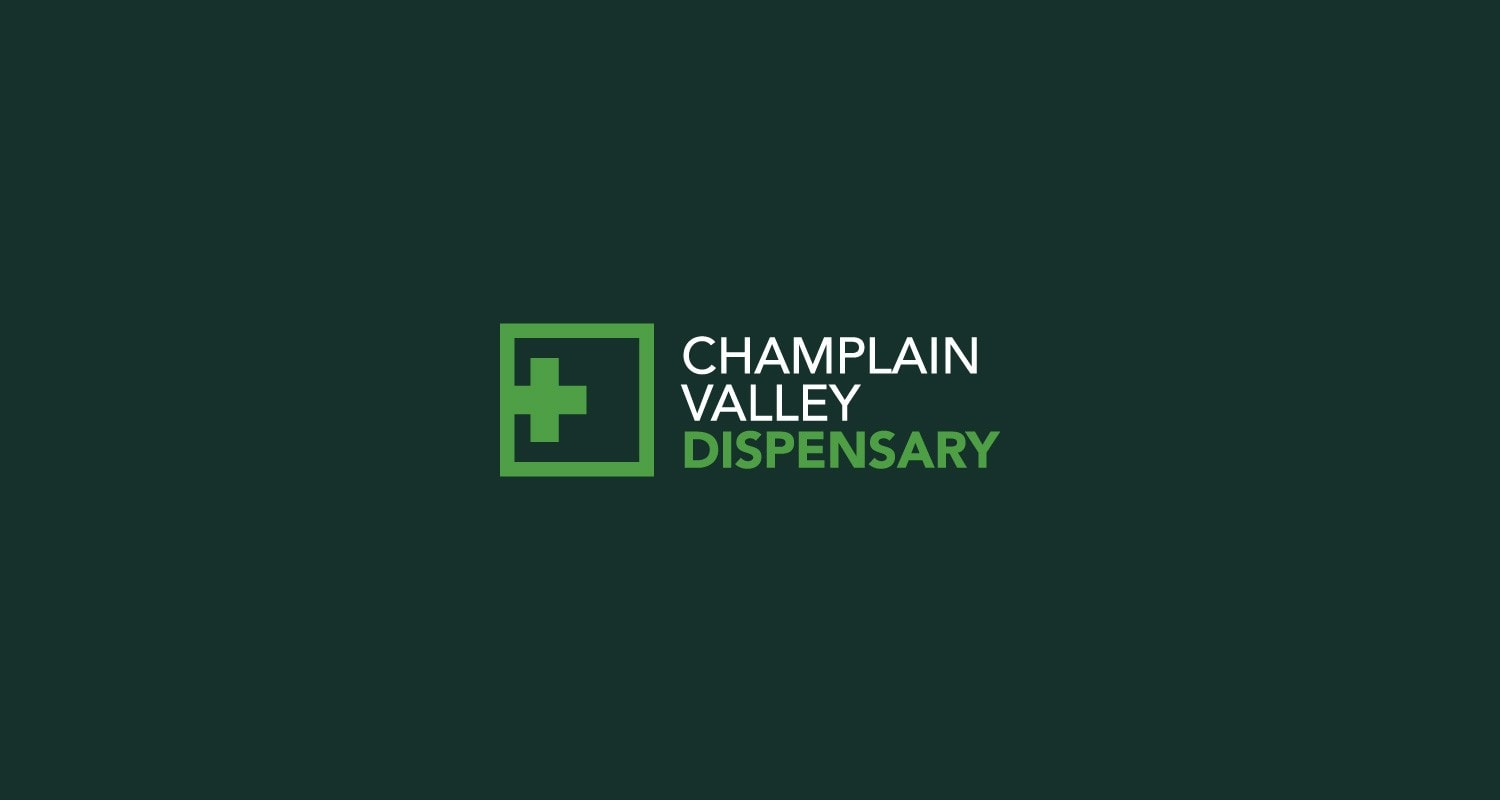 Champlain Valley Dispensary logo design by Clutch Creative Co. Burlington, VT
