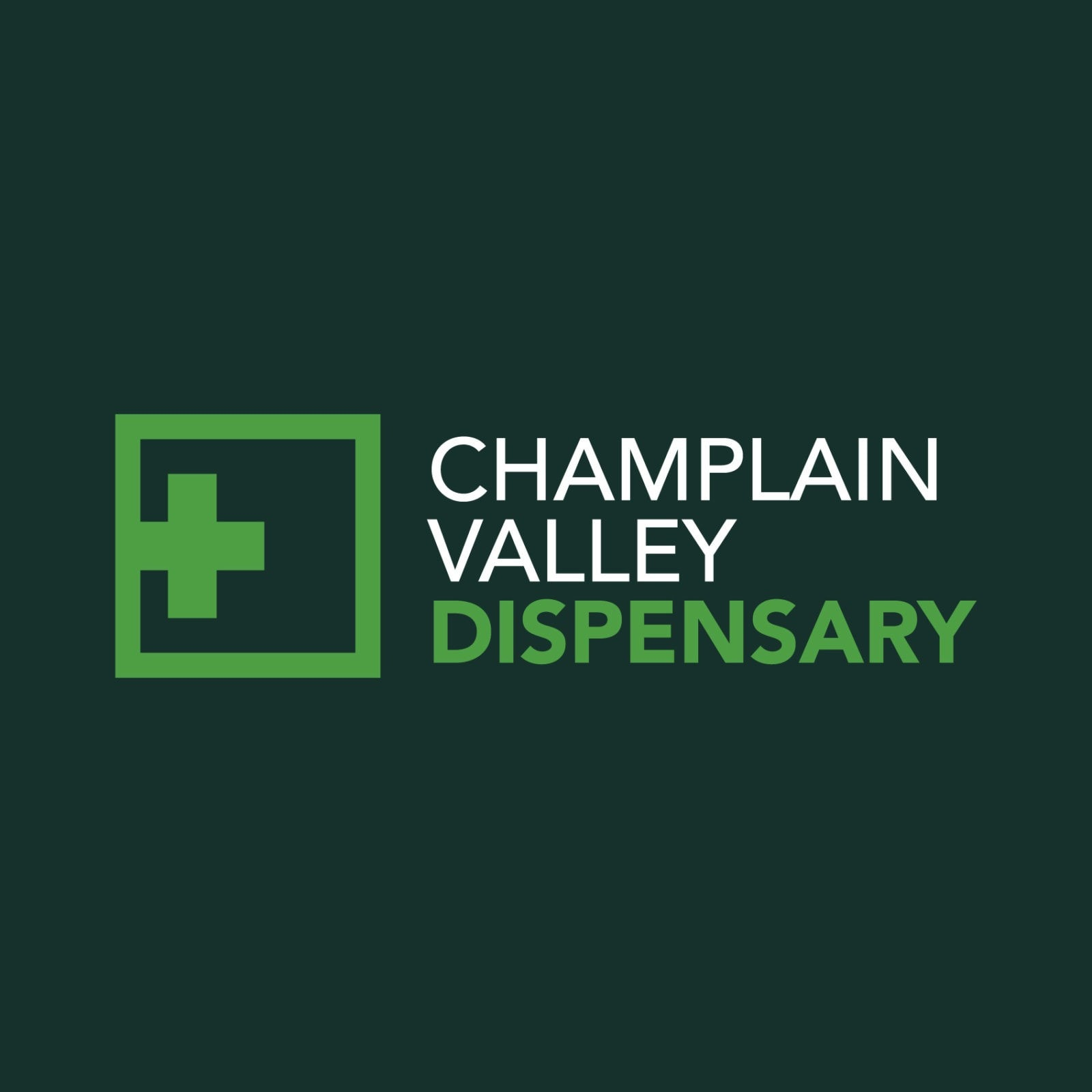 Branding and dispensary logo design for Champlain Valley Dispensary. Burlington, VT.