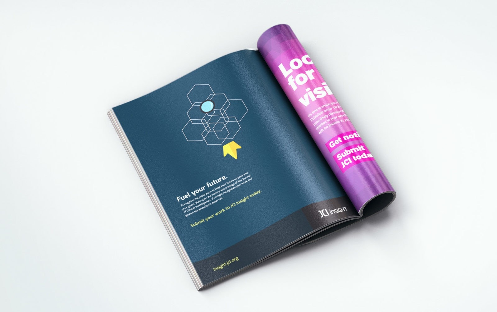 Advertising campaign concept and art direction by Clutch Creative Co. Burlington, VT. Medical journal advertising.