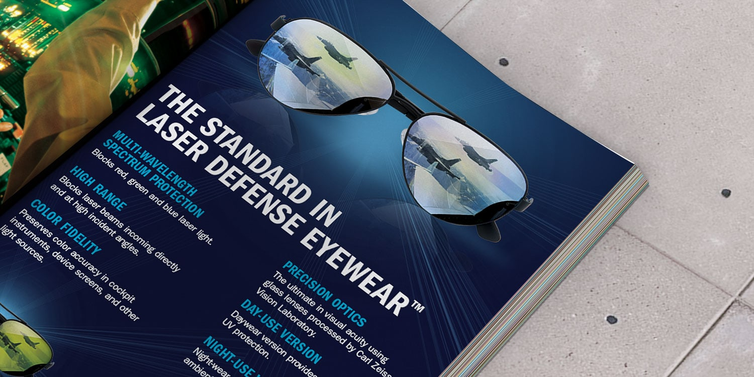 Burlington, VT advertising firm. Clutch creative advertising for Perriquest in Flying Magazine