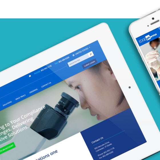Edge Pharma Website Design Example