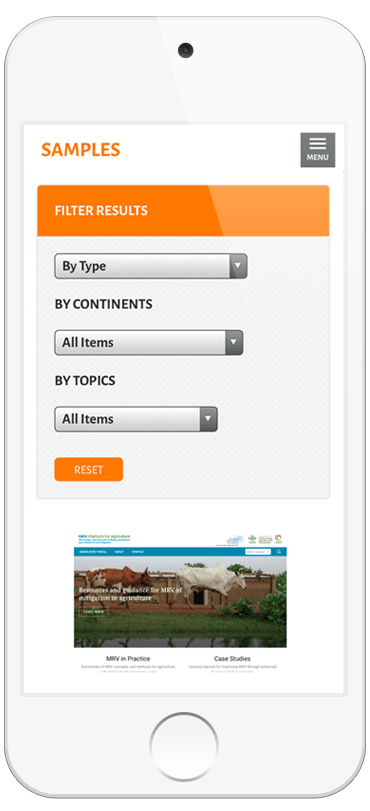 SAMPLES Mobile web design example