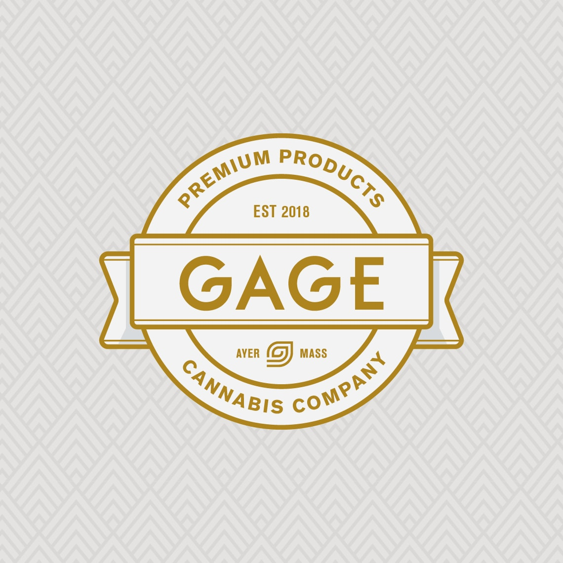 Gage Cannabis badge style logo design example