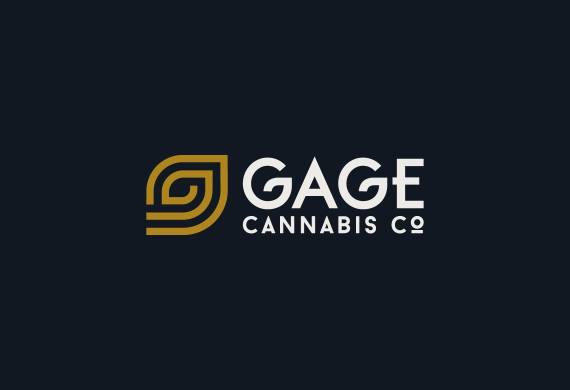 Gage Cannabis Logo on dark background