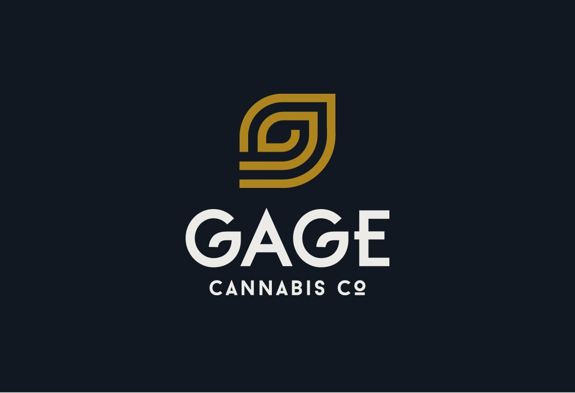 Gage Cannabis Company logo design example