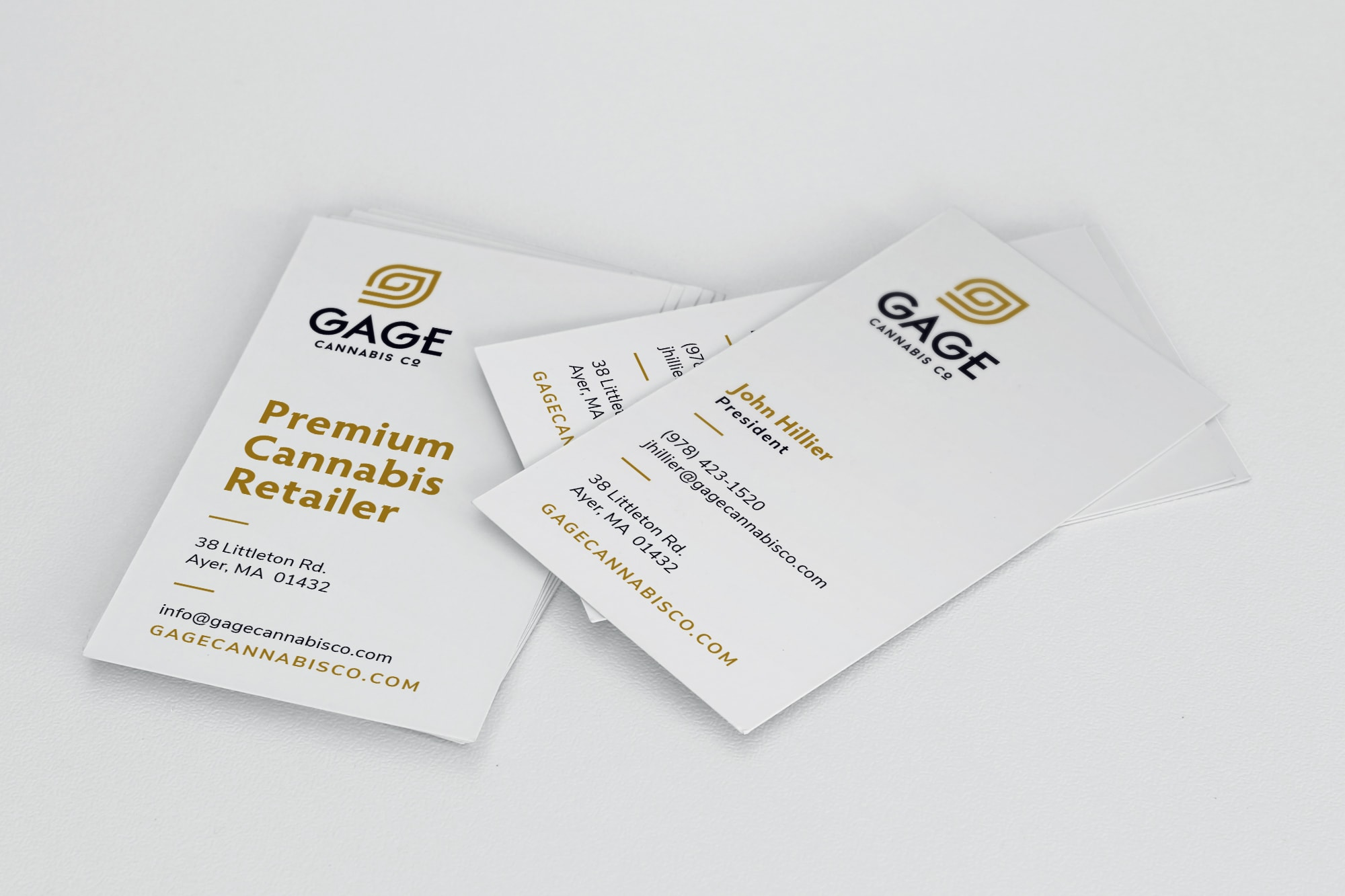 Gage Cannabis Company business card design