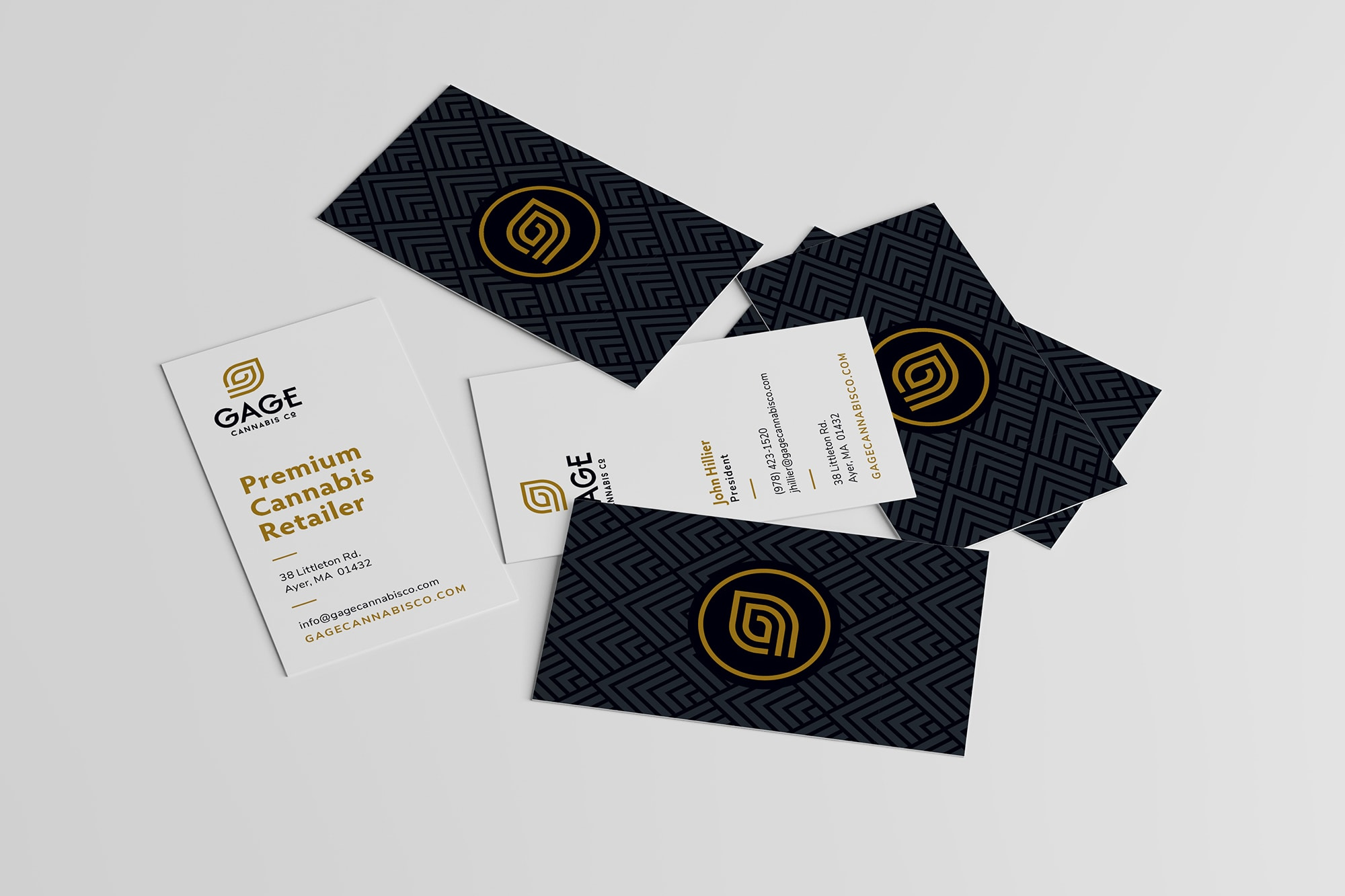 Dispensary business card design example