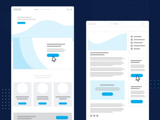 Website wireframe graphic