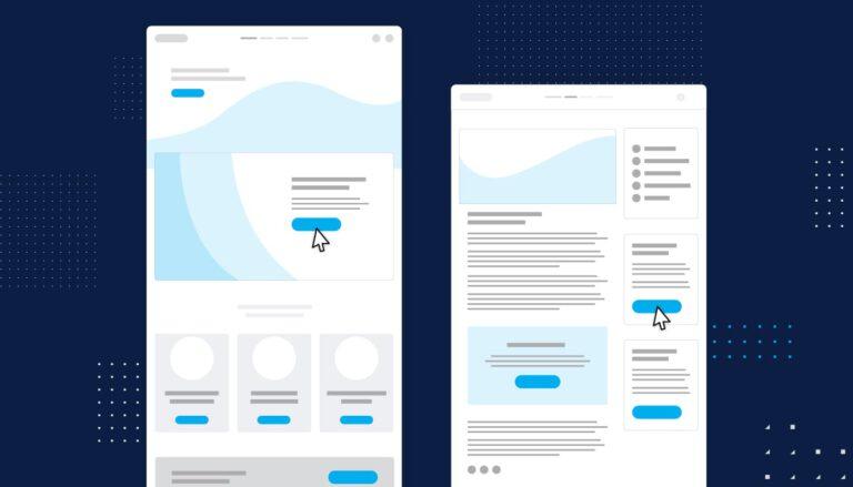 Website wireframe graphic