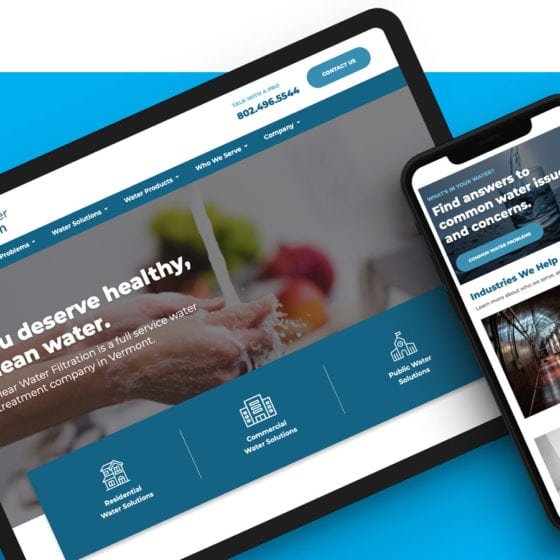 Vermont Web Design - Clear Water Filtration